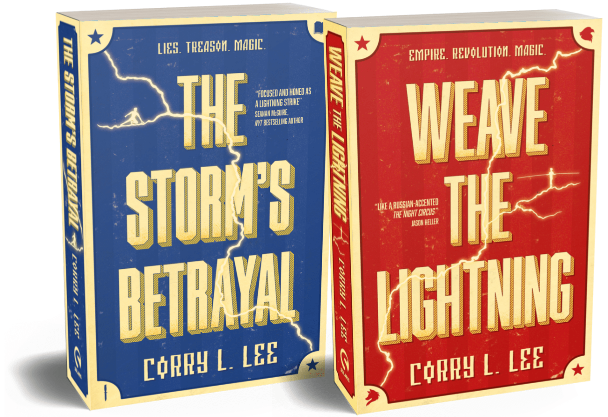 Weave the Lightning. The Storm's Betrayal. Books by Corry L. Lee