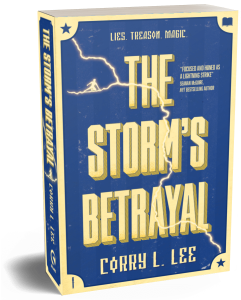 Book entitled: The Storm's Betrayal. By Corry L. Lee.