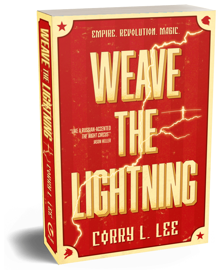 Book entitled: Weave the Lightning. By Corry L. Lee.